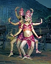 The culture of the Cham in Vietnam, the Hindu influence and Indian mythology sculpture of Cham.