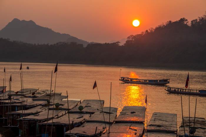 tramonto su Luangprabang